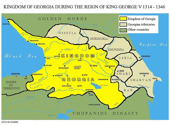 Map of Georgia during the reign of King George V